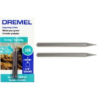 Dremel Engraving Cutter 0.8mm #105 TWIN PACK