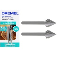 Dremel 125-02 - 2pc 1/4 inch CONE High Speed Steel Cutter