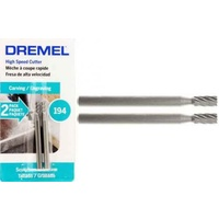 "Dremel 194 - 2pc  3.2mm (1/8"") CYLINDER HSS Cutter"