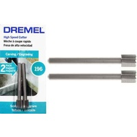 Dremel High-Speed Cutter 5.6mm #196 - 3.2mm shank TWIN PACK