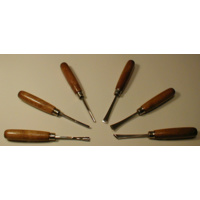 WOODCARVING SET - 6pc Straight Handle