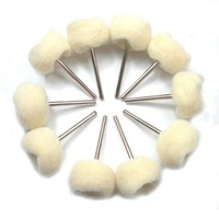 Polishing & Buffing Wheel White Soft Wool 25mm - 10pc