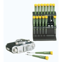 Screwdriver set, 15 pcs with stand - Proxxon