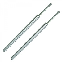 Ball-shaped diamond coated drill bits for glass and stone 1.2mm 2pc