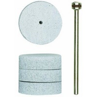 Polishing bit, flexible pad, 22x6mm wheel, 4 pcs with arbor