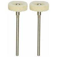 Polishing bit, felt, 16x3mm wheel, 2 pcs