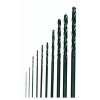 Drill bit set, high-speed steel twist drill set to DIN 338, 10 pcs