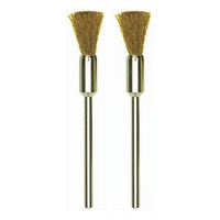 Brush bit, brass, brush, 8mm, 2 pcs