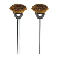 Brush bit, brass, cup, 13mm, 2 pcs