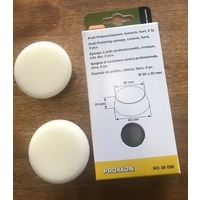 Proxxon Professional polishing sponges hard white 2pc