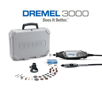 Dremel 3000 EZ Series Rotary Tool & Cutting Guide + Flexible Shaft + 30 Accessories