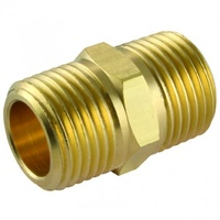"Nipple Brass Hexagon 1/4"" male x 1/4"" male BSP"