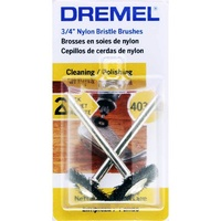 Dremel 403-02 - 2pc 19mm Nylon Bristle Wheel Brush
