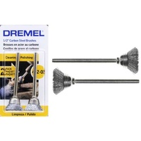 Dremel 442-02 - 2pc Carbon Steel CUP Brush 13mm