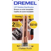 Dremel 532-02 - 2pc Stainless Steel End Brush - 1/8 inch shank