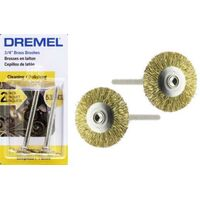 Dremel 535-02 - 2pc Brass WHEEL Brushes
