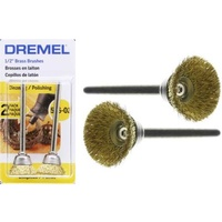 Dremel 536-02 - 2pc Brass CUP Brushes