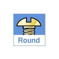 Round Head Machine Screws, #8-32 x 3/16 Inch (Pkg. of 100)