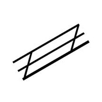 90691 (SRS-2 / pack of 2) N (1:200) STYRENE STAIR RAIL