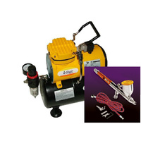 Talon Airbrush and Super Quiet Mini Air Compressor kit