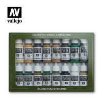 Model Air Brush Alied Forces WWII 16 Colour Acrylic Paint Set - Vallejo