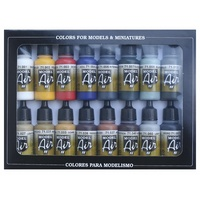 Model Air Brush Colours 16 Colour Set - Vallejo