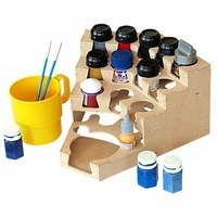 Corner storage paint rack