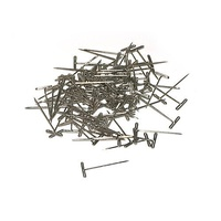"T Pins Large 38mm (1 1/2"") Long (pack of 100 pins)."