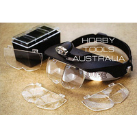 Deluxe Head mounted magnifier with 2 LED lights