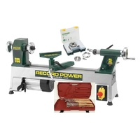 "DML250 Cast Iron 250mm (10"") Mini Wood Lathe Kit - RECORD POWER"