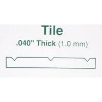 "STYRENE SQUARE TILE 12.7MM (1/2"") 300mm x 600mm (12"" x 24"")"