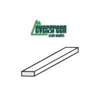 "STYRENE STRIPS 3.18MM (.125"") X 3.18MM (.125"") - 350MM (14"") 6PC"