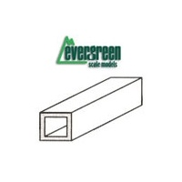 "STYRENE SQUARE TUBE, 6.3 mm (.250"") x 350mm (14"") (2pc)"