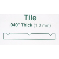 "STYRENE SQUARE TILE 12.7MM (1/2"") 150mm x 300mm (6"" x 12"")"