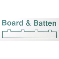 "STYRENE BOARD AND BATTEN 1MM (.040) SP (.100"" - 2.5MM SPACING) 150mm x 300mm (6"" x 12"")"