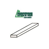 "STYRENE STRIPS HO SCALE 4 X 6 - 1.1MM (.043"") X 1.7MM (.066"") - 350MM (14"") 10PC"