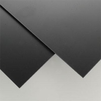 STYRENE SHEETS 203MM X 533MM X .76MM BLACK (4)