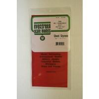 STYRENE SHEETS RED(2) 150MM X 300MM X .254MM THK
