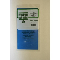 STYRENE SHEETS BLUE (2) 150MM X 300MM X .254MM THK