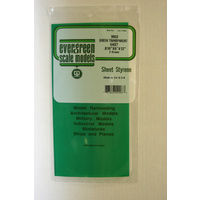 STYRENE SHEETS GREEN(2) 150MM X 300MM X .254MM THK