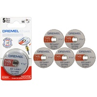 Dremel EZ409 - 5pc EZ Lock Thin Cut-off Wheels - Cuts Metal