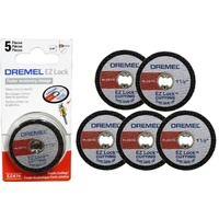 "Dremel EZ476 EZ Lock 38mm (1-1/2"") Cut-off Wheels For Plastic (5 Pack)"