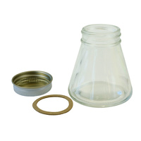3oz tapered glass  bottle/cap/gasket  complete