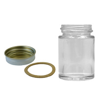 1oz glass bottle/cap/gasket complete