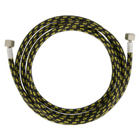 "Paasche H/D 1.8metre (6') Braided Air Hose with 1/4"" hose fittings"