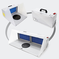 Twin Airbrush Spray Booths -  LED Lights and Includes Exhaust Kits