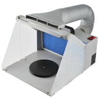 Airbrush Spray Booth -  LED Lights and Includes Exhaust Kit