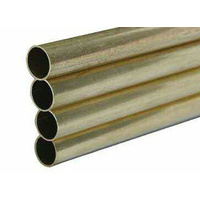 "BRASS RND TUBE 8.73mm (11/32"") x 914mm (36"") 4PC"