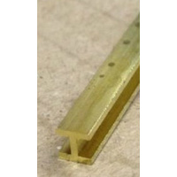 Brass H-Column 1.59mm x 300mm 1 PC