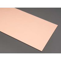COPPER SHEET 102mm x 254mm x .41mm